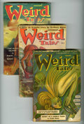 Pulps:Horror, Weird Tales (Pulp) Group of 5 (Popular Fiction, 1943-52) Condition:Average GD/VG. Includes January 1943; March, July, and N... (Total:5 Items)