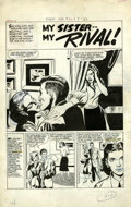 "Original Comic Art:Complete Story, Bill Draut (attributed) - First Romance #42 Complete 5-page Story""My Sister, My Rival"" Original Art (Harvey, 1956). The cla..."