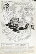 Original Comic Art:Splash Pages, Tenny Henson - Weird War Tales #85, Splash page 1 Original Art (DC,1980). For three days their PT boat has been caught in t...