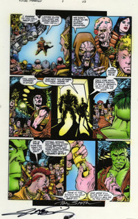 Tom Smith - Hulk: Future Imperfect #1, page 23 Airbrushed Color Guide (Marvel, 1993). George Perez's detailed art looks...