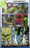 Original Comic Art:Miscellaneous, Tom Smith - Hulk: Future Imperfect #2, page 4 Airbrushed ColorGuide (Marvel, 1993). Hulk fans will enjoy this pulse-poundin...