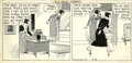 Original Comic Art:Comic Strip Art, Henry Tuthill - The Bungle Family Daily Comic Strip Original Art (undated). Something is amiss with Monty, and the family is...