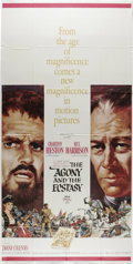"The Agony and the Ecstasy (20th Century Fox, 1965). Three Sheet (41"" X 81""). The war of wills between Michaela..."