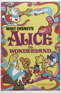"Movie Posters:Animated, Alice in Wonderland (Buena Vista, R-1974). One Sheet (27"" X 41"").When a bored little girl follows a white rabbit into a hol..."