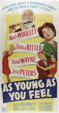 "Movie Posters:Comedy, As Young As You Feel (20th Century Fox, 1951). Three Sheet (41"" X81""). A man facing forced retirement sets out to save his ..."