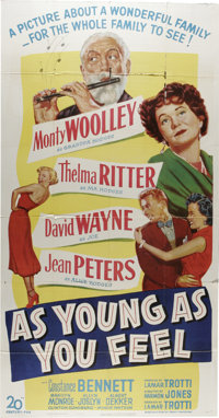 "As Young As You Feel (20th Century Fox, 1951). Three Sheet (41"" X 81""). A man facing forced retirement sets ou..."