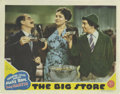 """Movie Posters:Comedy, The Big Store (MGM, 1941). Lobby Card (11"""" X 14""""). Cooked books andzany antics keep this Marx Brothers comedy a fan favorit..."""