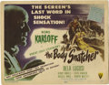 """Movie Posters:Horror, The Body Snatcher (RKO, 1945). Title Lobby Card (11"""" X 14""""). This Robert Louis Stevenson tale was inspired by the true story..."""