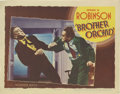 "Movie Posters:Crime, Brother Orchid (Warner Brothers, 1940). Lobby Card (11"" X 14"").Edward G. Robinson is a gangster who returns from exile in E..."