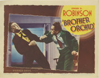 """Brother Orchid (Warner Brothers, 1940). Lobby Card (11"""" X 14""""). Edward G. Robinson is a gangster who returns f..."""