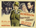 """Movie Posters:Crime, Brother Orchid (Warner Brothers, 1940). Title Lobby Card (11"""" X14""""). A gang boss, played by Edward G. Robinson, has returne..."""