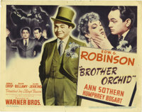 """Brother Orchid (Warner Brothers, 1940). Title Lobby Card (11"""" X 14""""). A gang boss, played by Edward G. Robinso..."""