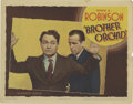 """Movie Posters:Crime, Brother Orchid (Warner Brothers, 1940). Lobby Card (11"""" X 14""""). Oneof the genres Warner's did so well was the gangster come..."""