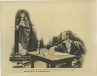 "The Conquering Power (Metro, 1921). Lobby Card (11"" X 14""). Rudolph Valentino is reteamed with Alice Terry in..."