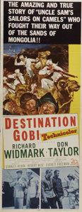 """Movie Posters:War, Destination Gobi (20th Century Fox, 1953). Insert (14"""" X 36"""").Richard Widmark and Martin Milne star in this action comedy a..."""