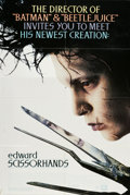 "Movie Posters:Fantasy, Edward Scissorhands (20th Century Fox, 1990). One Sheet (27"" X41""). A suburban community makes it a point to get to know th..."