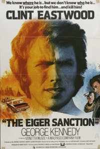 """The Eiger Sanction (Universal, 1973). British One Sheet (27"""" X 40""""). Clint Eastwood stars in this thriller abo..."""