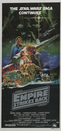 """Movie Posters:Science Fiction, The Empire Strikes Back (20th Century Fox, 1980). AustralianDaybill (13"""" X 28""""). The first sequel to """"Star Wars"""" is conside..."""
