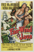 "Movie Posters:Adventure, Fair Wind to Java (Republic, 1953). One Sheet (27"" X 41""). FredMacMurray stars as an American sea captain in search of a su..."