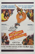 "Movie Posters:Adventure, Five Weeks in a Balloon (20th Century Fox, 1962). One Sheet (27"" X41""). Part of the early '60s trend of films based on Jule..."
