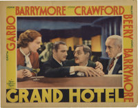 "Grand Hotel (MGM, 1932). Lobby Card (11"" X 14""). MGM pulled out all the stops in this star-studded feature. Gr..."