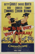 "Movie Posters:Comedy, How to Be Very, Very Popular (20th Century Fox, 1955). One Sheet (27"" X 41""). Showgirls Curly and Stormy Tornado are on the ..."