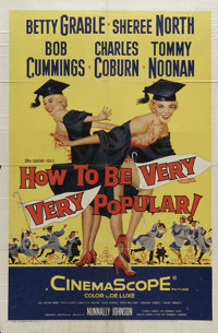 "How to Be Very, Very Popular (20th Century Fox, 1955). One Sheet (27"" X 41""). Showgirls Curly and Stormy Torna..."