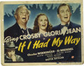 """Movie Posters:Musical, If I Had My Way (Universal, 1940). Lobby Cards (4) (11"""" X 14""""). This musical comedy starring Bing Crosby and Gloria Jean tel... (Total: 4 Items)"""