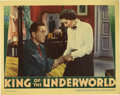 "Movie Posters:Crime, King of the Underworld (Warner Brothers, 1939). Lobby Card (11"" X14""). Humphrey Bogart stars as Joe Gurney, the hard-edged ..."