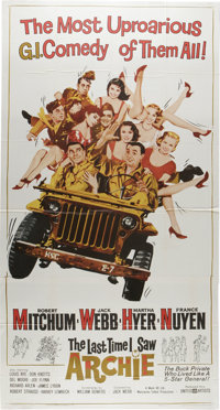 """The Last Time I Saw Archie (United Artists, 1961). Three Sheet (41"""" X 81""""). He may be a private but he's livin..."""