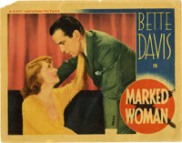 "Marked Woman (Warner Brothers, 1937). Lobby Card (11"" X 14""). This Warner Brothers' crimer was supposedly insp..."