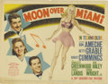 """Movie Posters:Musical, Moon Over Miami (20th Century Fox, 1941). Title Lobby Card (11"""" X14""""). Betty Grable and Carole Landis star in this comedy m..."""