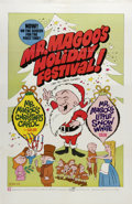 "Movie Posters:Animated, Mr. Magoo's Holiday Festival (UPA, 1970). Poster (24.5"" X 37.5""). Two television shorts starring the near-sighted Mr. Magoo ..."