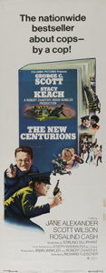"Movie Posters:Crime, The New Centurions (Columbia, 1972). Insert (14"" X 36""). George C. Scott and Stacy Keach star in this Joseph Wambaugh thrill..."