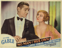 """No Man of Her Own (Paramount, 1932). Lobby Card (11"""" X 14""""). The only film in which Clark Gable and his future..."""