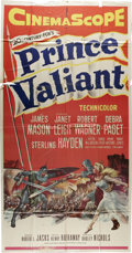 "Movie Posters:Adventure, Prince Valiant (20th Century Fox, 1954). Three Sheet (41"" X 81"").Viking Prince Valiant (Robert Wagner) is an undisciplined ..."