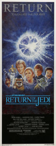 """Movie Posters:Science Fiction, Return of the Jedi (20th Century Fox, 1983). Insert (14"""" X 36""""). The third movie in the highly successful original Star Wars..."""