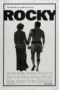 """Rocky (United Artists, 1977). One Sheet (27"""" X 41""""). Sylvester Stallone's breakthrough hit about the chronic u..."""
