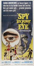 "Movie Posters:Adventure, Spy in Your Eye (American International, 1966). Three Sheet (41"" X81""). This spy drama twists and turns around the adventur..."