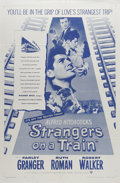 """Movie Posters:Hitchcock, Strangers on a Train (Warner Brothers, R-1957). One Sheet (27"""" X41""""). Alfred Hitchcock thriller about two strangers who mee..."""