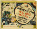 """Movie Posters:Adventure, Treasure Island (MGM, 1934). Title Lobby Card (11"""" X 14""""). Takenfrom the classic novel by Robert Louis Stevenson, this all-..."""