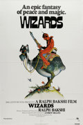 "Movie Posters:Animated, Wizards (Twentieth Century Fox, 1977). One Sheet (27"" X 41""). Ralph Bakshi's animated fantasy about a future world where a g..."