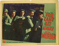 """Movie Posters:Crime, You Can't Get Away With Murder (Warner Brothers, 1939). Lobby Card(11"""" X 14""""). Billy Halop has to roll with the punches Hum..."""