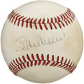 Autographs:Baseballs, Stan Musial Single Signed Baseball. Having spent his entire 22 yearmajor league career with the St. Louis Cardinals, the H...