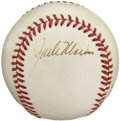 Autographs:Baseballs, Jack Morris Single Signed Baseball. Holding the major league recordfor the most consecutive day starts at 14, the five tim...
