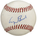 Autographs:Baseballs, Former President George Bush Single Signed Baseball. FormerPresident of the United States, George Bush penned his signature...
