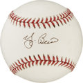 Autographs:Baseballs, Yogi Berra Single Signed Baseballs Lot of 2. Yogi Berra is amongthe most popular baseball players who ever lived, and it i...