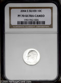 Proof Roosevelt Dimes: , 2004-S 10C Silver PR70 Deep Cameo NGC. PCGS Population (58/0).Numismedia Wsl. Price: $180. (#95309)...