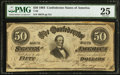 Confederate Notes:1864 Issues, T66 $50 1864 PF-13 Cr. 502.. ...