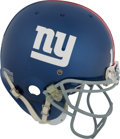 Football Collectibles:Helmets, 2007 Eli Manning Game Worn New York Giants Helmet - Photo Matchedto Wild Card Playoff Game vs. Eagles!...
